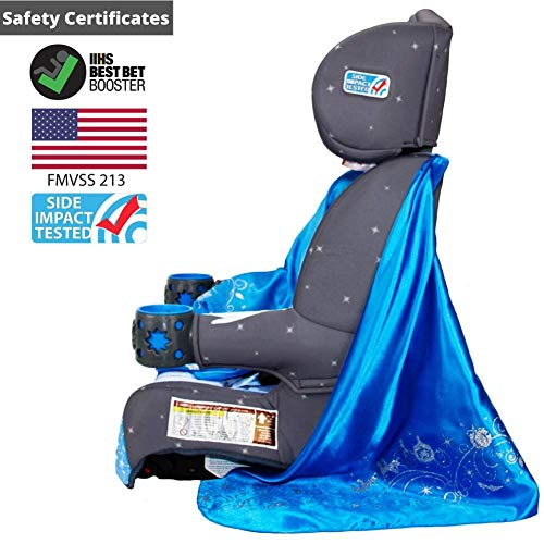 51GHn9TE3tL - KidsEmbrace 2-in-1 Harness Booster Car Seat, Disney Princess Cinderella, Gray