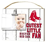"""KH Sports Fan 10""""x 8"""" Boston Red Sox Clip It Weathered Baby Logo Photo Frame"""