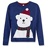 Product review for Benito & Benita Christmas Sweater Crew Neck Pullover Xmas Sweater With Bear For Boys/Girls 3-13Y