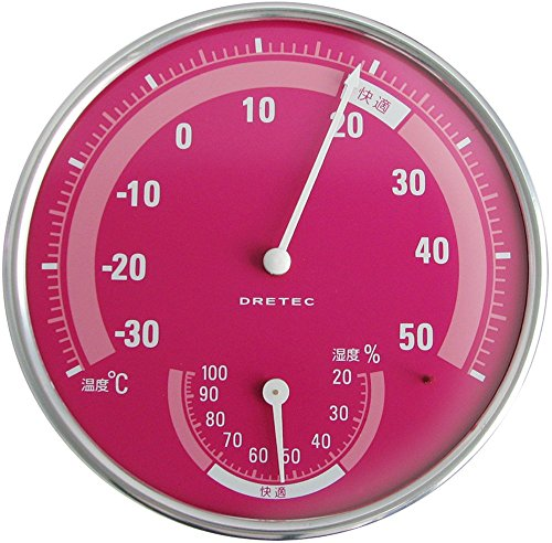드레텍 dretec 아날로그 온습도계 핑크 O-310PK