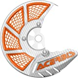 Acerbis X-Brake Vented Front Disc Cover (WHITE/16+ ORANGE)