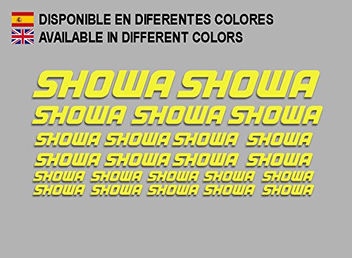 Ecoshirt PF-GTWQ-1XNO Autocollants Showa F205 Stickers Aufkleber Decals Moto GP Bike Jaune