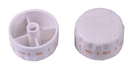 Mando termostato horno Teka blanco diametro Eje 6 mm HE490 diametro