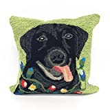 Liora Manne Whimsy Seasonal Greeting Indoor/Outdoor Pillow, Green