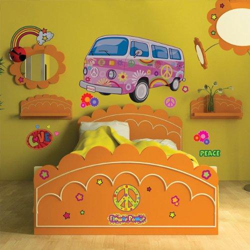 vy Van Mural-Girls Room Mural Peel & Stick (Groovy Van)