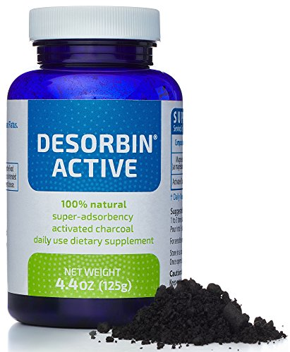 Activated Charcoal Powder Paste – Organic Raw Natural Detox Supplement for Gas Bloating Relief, Indigestion, Teeth Whitening, Face Scrub Mask, Magnesium Deodorant, Hangover Prevention by DESORBIN