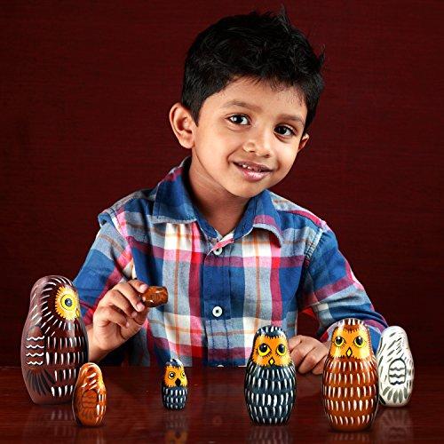 Owl Nesting Dolls - Owl Decor - Owl Gifts - Owl Toy - Matryoshka set 7 dolls by MATRYOSHKA&HANDICRAFT (Image #2)