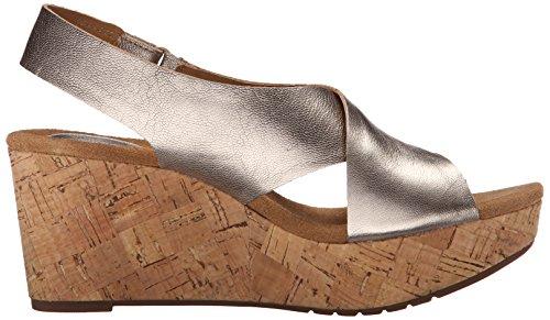 Clarks Femmes Caslynn Shae Wedge Sandale Or