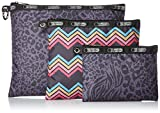 LeSportsac Luggage 3 Piece Travel Set Luggage Accessory Animal Tango Multi One Size