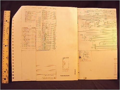 1981 81 ford crown victoria & mercury grand marquis electrical wiring  diagrams manual ~original loose leaf – january 1, 1981