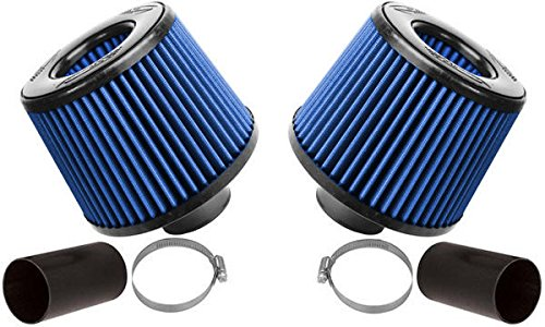BMS Dual Cone Performance Intake for N54 BMW 135 335 535 Z4 (BLUE FILTERS) ()