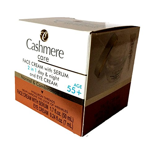 Cashmere Care Face Cream with Serum 2 in 1 day & night and EYE CREAM 55+ NORMAL & COMBINATION SKIN ()
