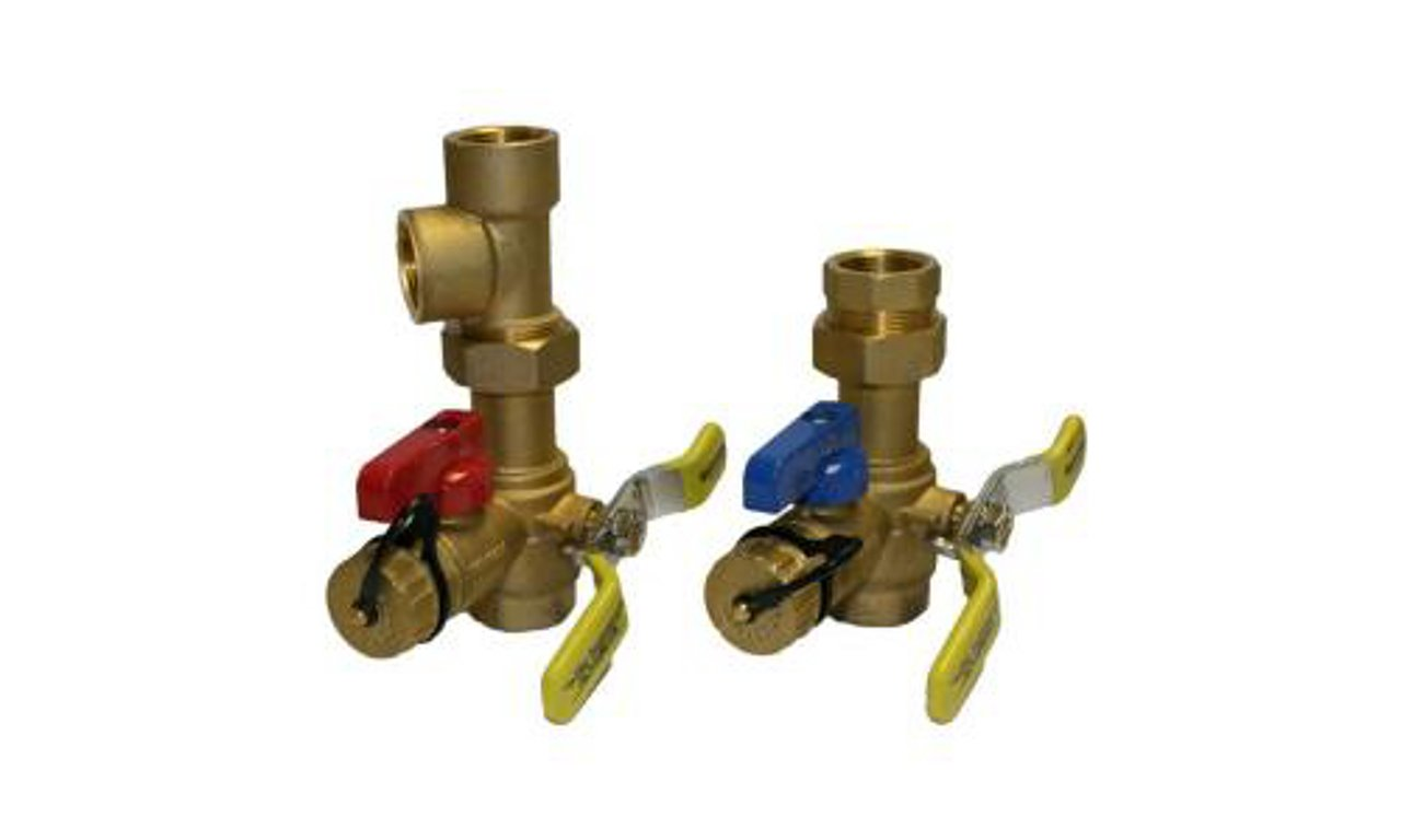 Rheem RTG20220AB Webstone Tankless Water Heater Service Valve Kit, Clean Brass by Rheem
