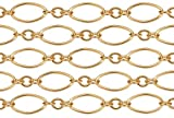 3 Feet 14Kt Gold Filled Long and Short Chain 4.7x2.2 mm 27 Gauge For Diy Beading Arts and Crafts
