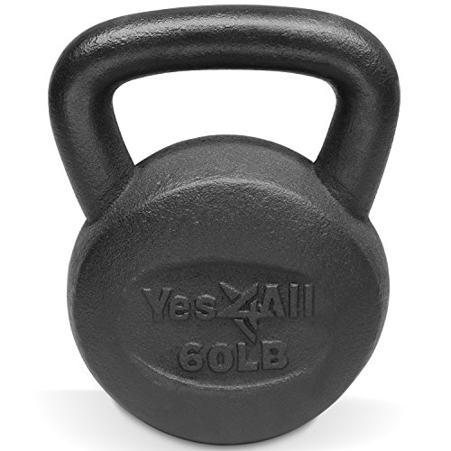 (Single) Solid Cast Iron Kettlebell (60 LB) - ²KMV2Z