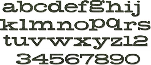 Sizzix 662430 Bigz XL Alphabet Die Cuts, Multicolor
