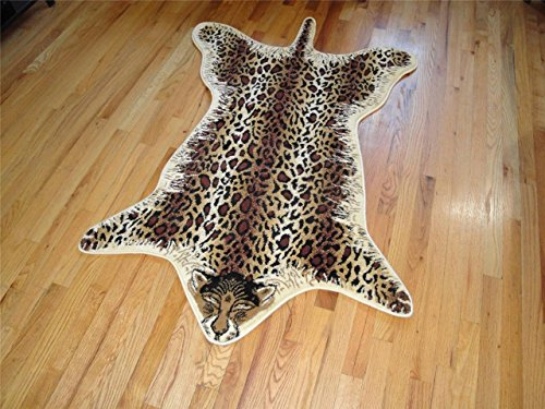 faux safari leopard print 4u00279 x 6u00275 area rug carpet