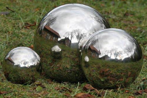 24 Stück Dekokugel Silberkugel Ø 4 cm Edelstahl Kugel Rosenkugel Teichkugel