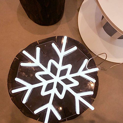 DragonX LED Neon Sign Light-Home and Party Decorations-12 Volts PVC Tube Acrylic Wall Art-Big Snowflake by DragonX (Image #5)