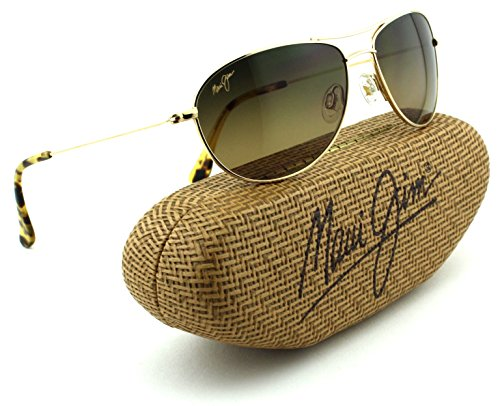 Maui Jim Baby Beach Unisex Polarized Sunglasses (Gold Frame, HCL Bronze Lens - Beach Maui Baby Jim