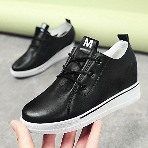 la 39 HWF Aumento Zapatos Zapatos Zapatos bajos Zapatos placa de para Negro primavera Tamaño blancos gruesos de mujer dentro mujer de Blanco Color casuales Zapatos v8vgxdrn