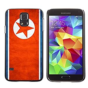 Shell-Star ( National Flag Series-North Korea ) Snap On Hard Protective Case For Samsung Galaxy S5 V SM-G900