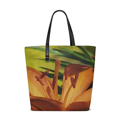 f1b5cada55d1 Amazon.com  WHIOFE Women Tiger Lily Lilium Bulbiferum Flower ...