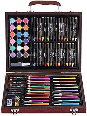 Wguili Pintura Kit Lápices de Colores Crayones Estuche Dibujo Adolescentes Niños 101 Piezas Juego de Arte para niños Artista Dibujo y PaintingSet (Color : Natural, Size : Free Size): Amazon.es: Hogar