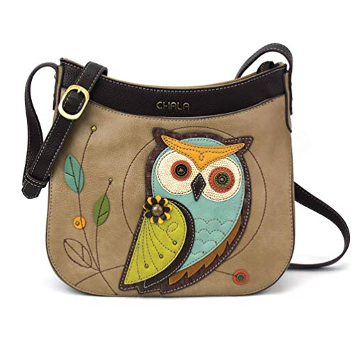 (Chala Crescent Crossbody - Owl-A Taupe)