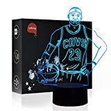 Basketball Toy LED Night Lamp for Kids 3D Illusion, LeKong USB Plug in, Touch Control, Gift for Thanksgiving & Friendship, Fit for Home Decorations