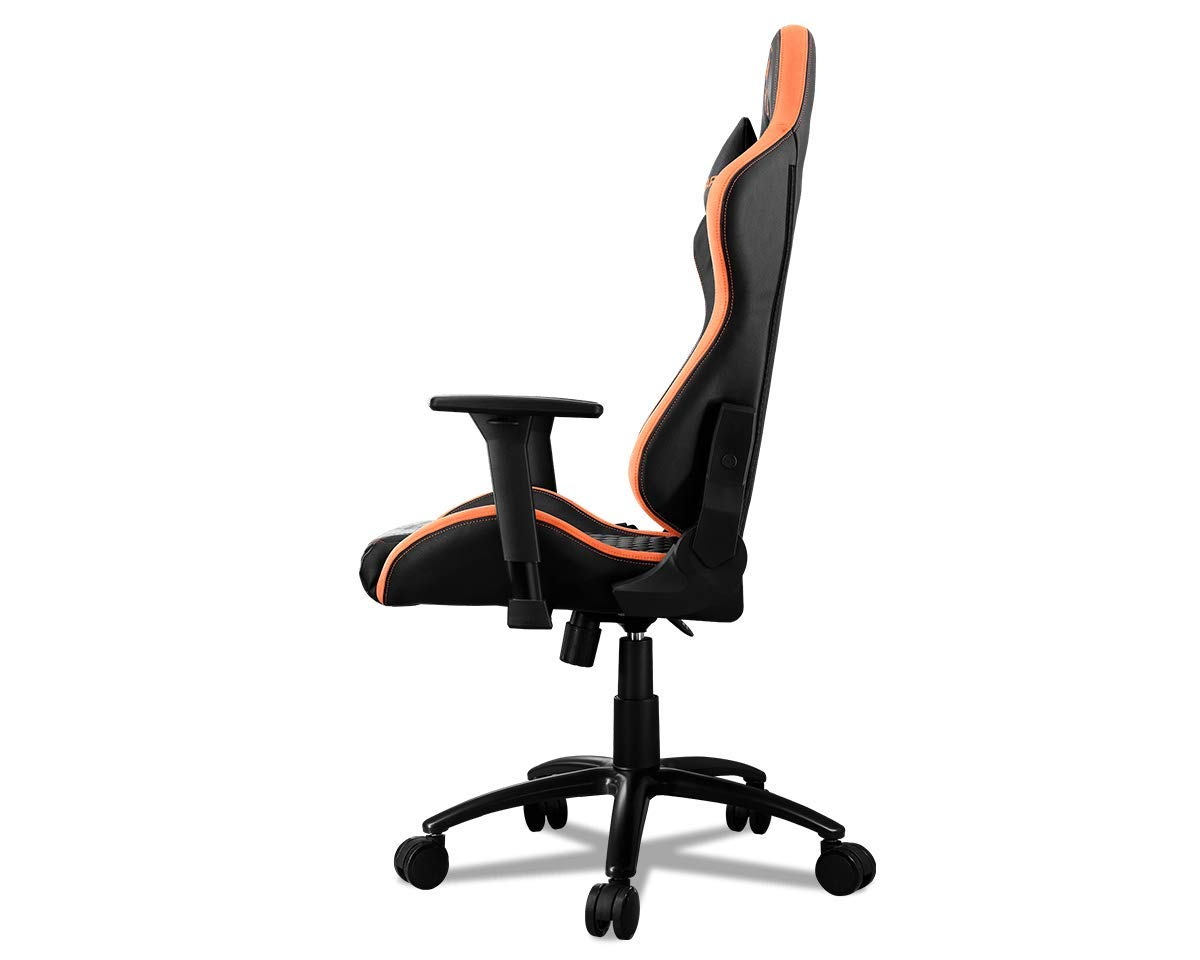 Breathable Premium PVC Leather and Micro Suede-Like Texture Black Cougar Armor Pro Gaming Chair with a Steel Frame