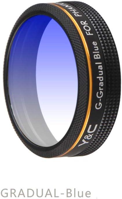 Blue Zhaowei Gradual Color Filter Lens Spare Part for DJI Phantom 4Pro Drone Camera