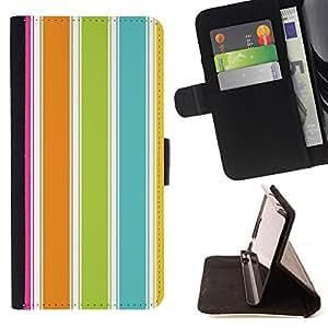 BEACH SUMMER VIBRANT LINES COLORFUL/ Personalizada del estilo del dise???¡Ào de la PU Caso de encargo del cuero del tir????n del soporte d - Cao - For Samsung Galaxy Note 3 III