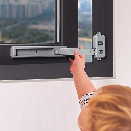 Restrictor Window Casement Door Wind Windproof Home Support Hinge Safety Buckle