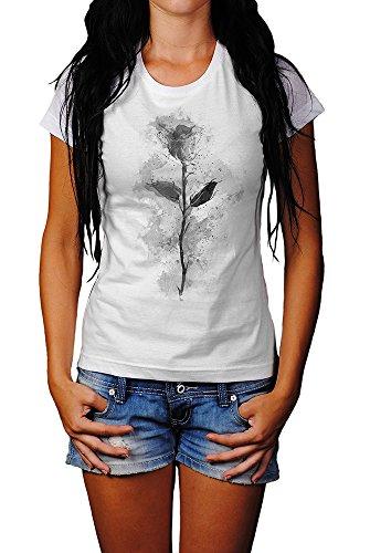 Roser T-Shirt Mädchen Frauen, weiß mit Aufdruck