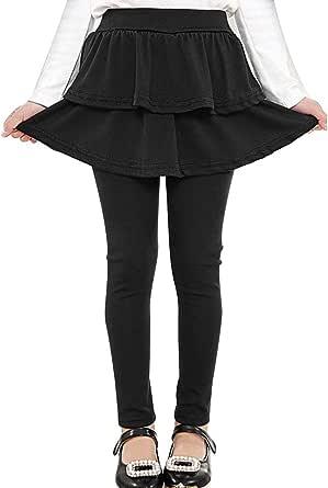 Auranso Little Girls Footless Leggings with Ruffle Tutu Skirt Pants 2-12 Years