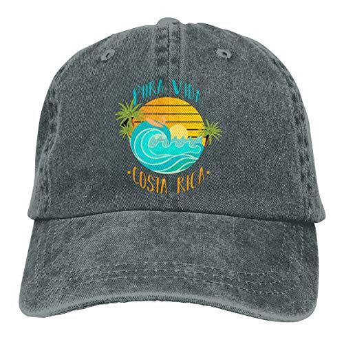 Pura Vida Costa Rica Souvenirs Adjustable Sport Jeans Baseball Golf Cap Hat Unisex Style Deep Heather