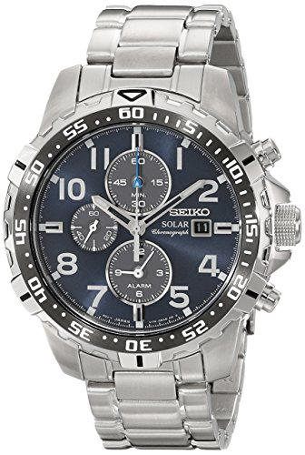 Seiko Men's SSC305 Solar-Power Stainless Steel Bracelet Watch ()