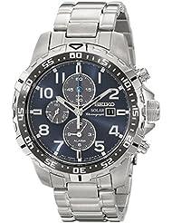 Seiko Mens SSC305 Solar-Power Stainless Steel Bracelet Watch