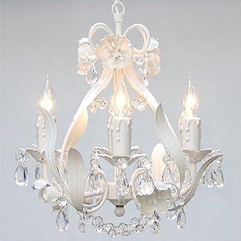 Amazon.com: Araña de hierro forjado iluminación país francés ...