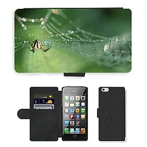 PU LEATHER case coque housse smartphone Flip bag Cover protection // M00129292 Araña de insectos Cerrar Naturaleza // Apple iPhone 5 5S 5G