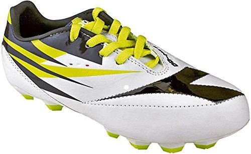 Diadora Kids DD-NA 2 R LPU JR Soccer Shoes (5.5 US Big Kid, White / Black)