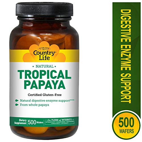 Papaya Crush - Country Life - Natural Tropical Papaya Enzyme - 500 Chewable Wafers