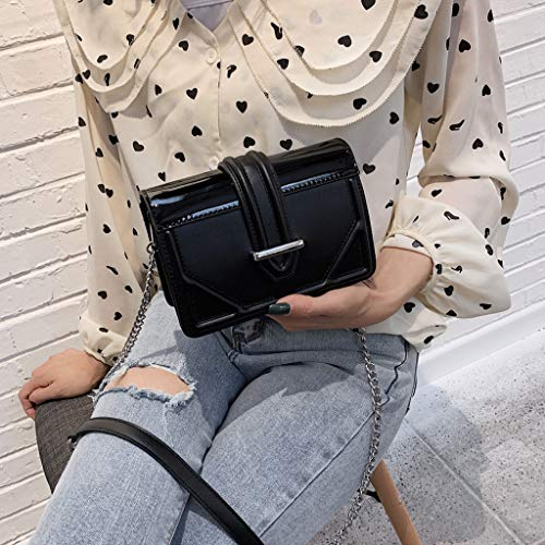 - Lightweight Small Crossbody Bag Zipper Pocket PU Leather Shoulder Bag Adjustable Strap Messenger Bag