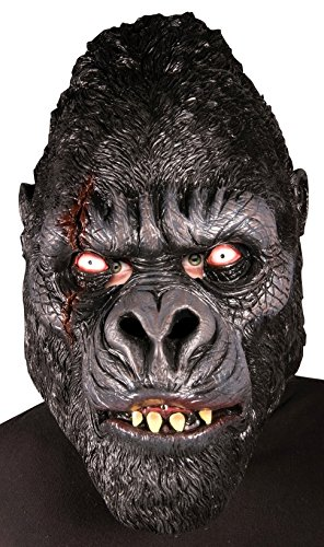 Forum Novelties Men's Zombie Gorilla Latex Mask, Black, One Size -