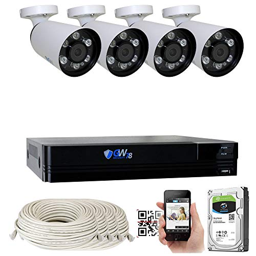 GW 8 Channel H.265+ NVR Ultra-HD 4K 8MP@30fps Realtime Security Camera System with 4 x 4K (8MP) 2160p IP PoE Bullet Camera, Smart Search & Face Detection (2TB HD) For Sale