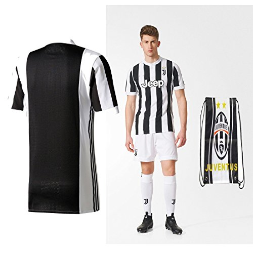 Juventus Paulo Dybala Higuan 2017 2018 17 18 Kid Youth Ages 4 to 12 Yrs Old Home REPLICA Jersey Kids Kit : Shirt, Short, Socks, Bag (No Name No Number, Size K26 (9-10 Yrs Old Approx.)) (Shirt Home Kit)