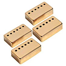 Kmise A7533 Neck Pickup Cover 50mm Pole Spacing for Gibson Les Paul Guitar Parts Replacement, 4 Pieces, Gold