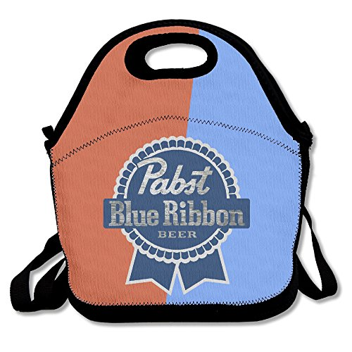 pabst-blue-ribbon-insulated-lunch-bag-backpack-tote-with-zipper-carry-handle-and-shoulder-strap-for-