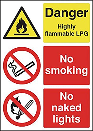 LPG Highly Flammable Warning Sign